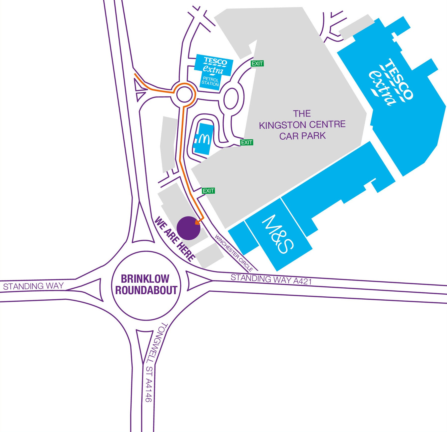 Map of Climb Quest Milton Keynes