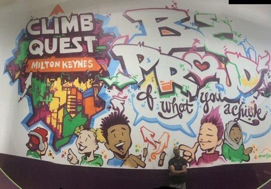 Street art at Climb Quest Milton Keynes