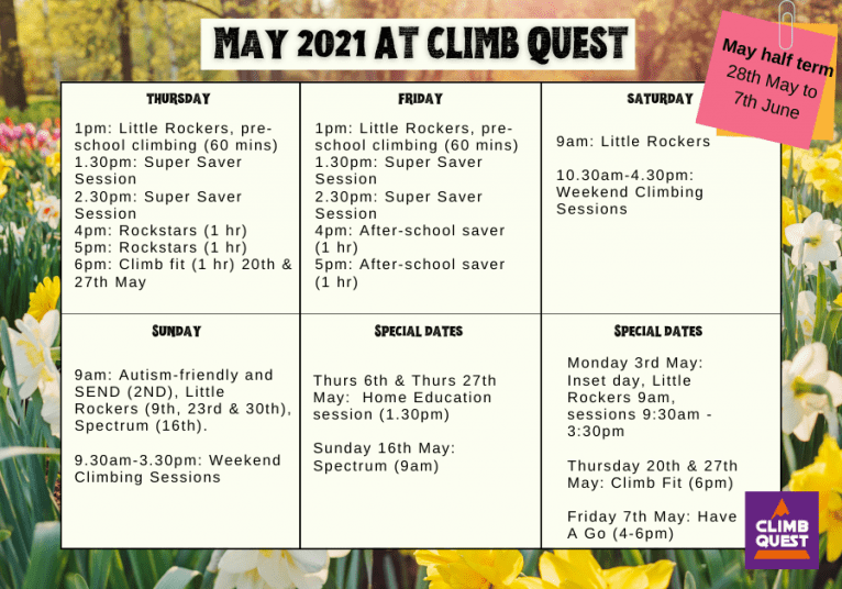 May 2021 at Climb Quest