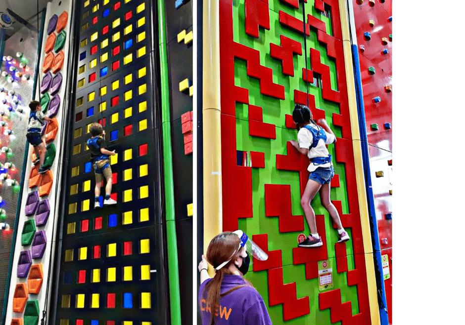 Safe climbing at Climb Quest